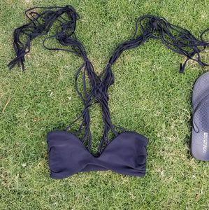 {nwot} mikoh • kahala crossover string bikini top